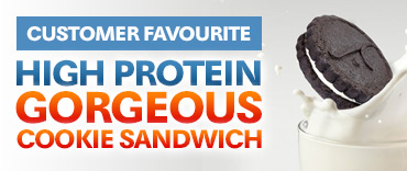 High protein gorgeous cookie sandwich