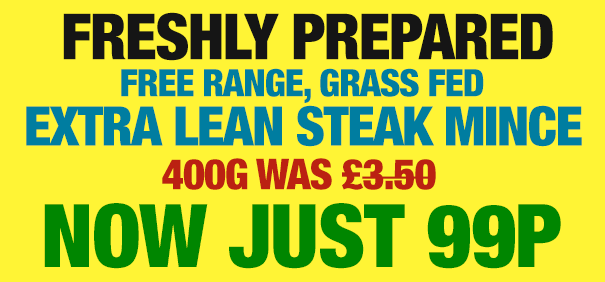 Extra Lean, Grass Fed STEAK Mince