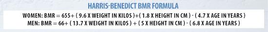 Harris Benedict BMR Formula