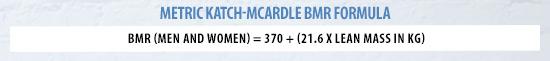 Metric Katch McArdle BMR Formula