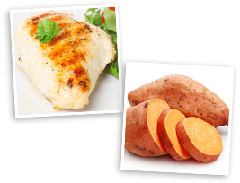 Musclefood Chicken breast and Sweet Potato