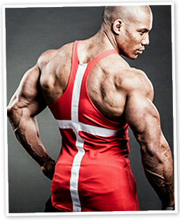 Roger Snipes showing back and arms
