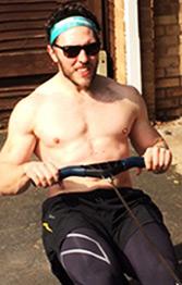 Chris rowing