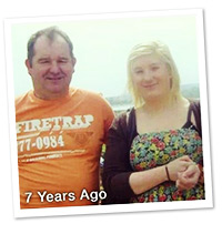 Sarah and father 7 years ago