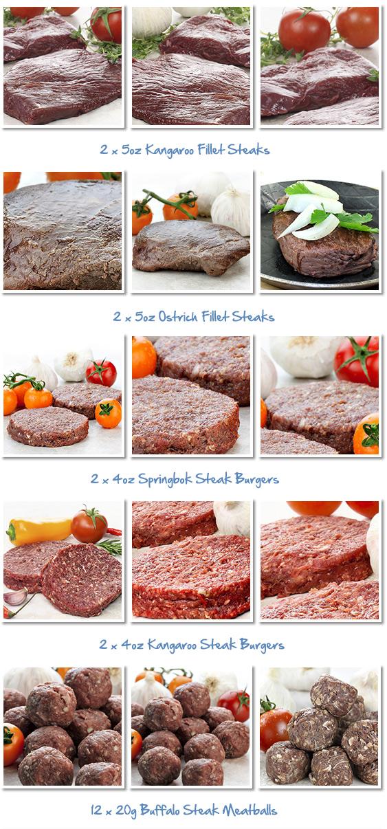 Exotic Steak Selection Steak