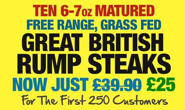 Rump Steaks Offer