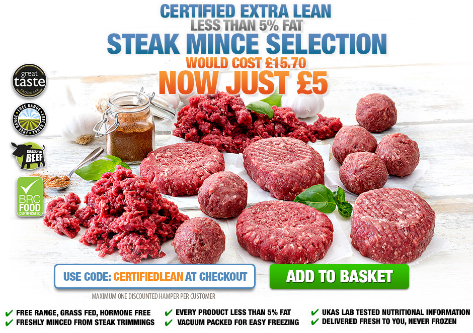 Certified Extra Lean steak mince Selection