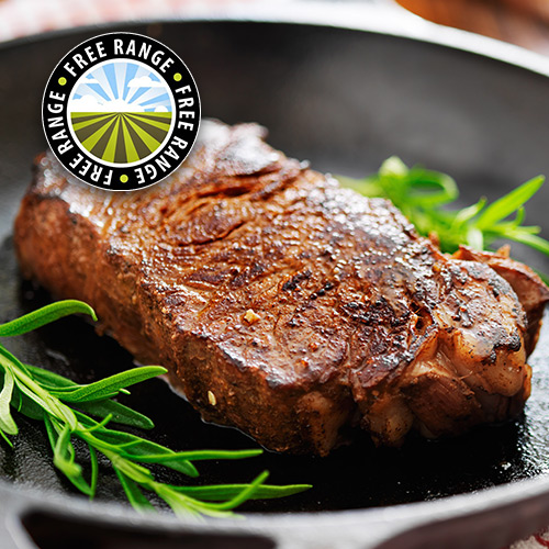 2 x 6-7oz Matured Free Range Sirloin Steaks