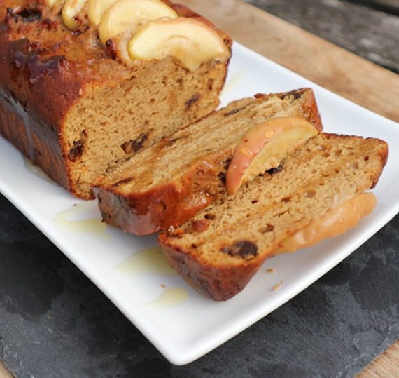 Toffee Apple Loaf Cake