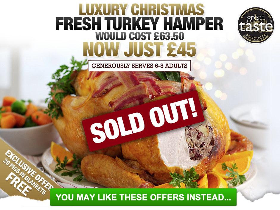 Buy your luxury fresh christmas turkey hamper today muscle food luxury fresh christmas forumfinder Images