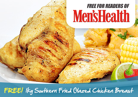 Free 1kg Southern Fried Glazed Chicken Breast