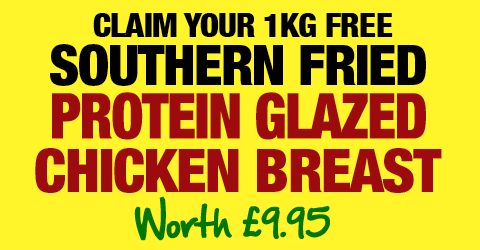 Claim your FREE 1kg southern fried Chicken Breast