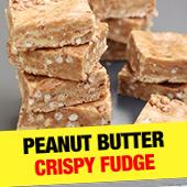 Peanut Butter Crispy Fudge