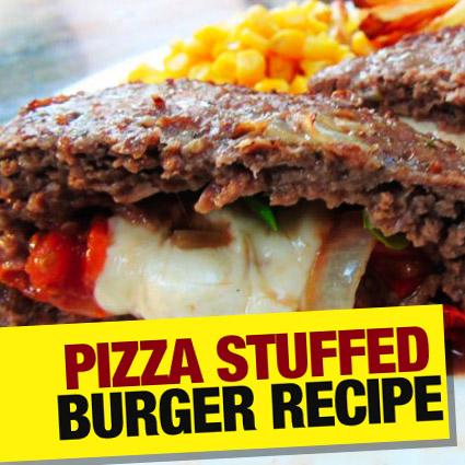 stuffed pizza burger recipe