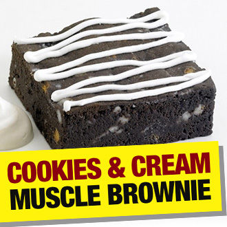 Cookie & Cream Muscle Brownie