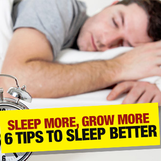 Sleep more, grow more – 6 tips for a better night's kip! You are what you sleep...