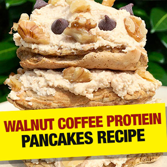 Walnut coffee protein pancakes recipe - trust us you WANT to try this...