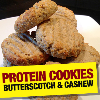 Butterscotch and Cashew Butter PROTEIN Cookies