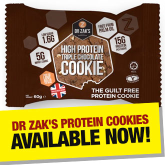 Dr Zak's Protein Cookies available NOW!