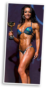 fitness model Amanda Stanton winning competition