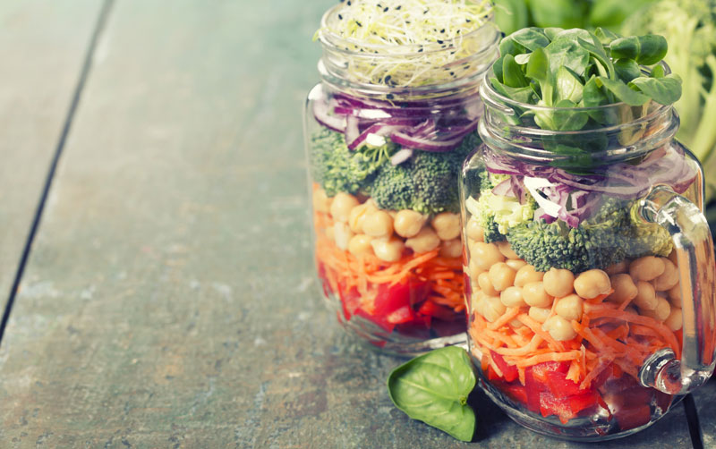 Vegan Salad Jars