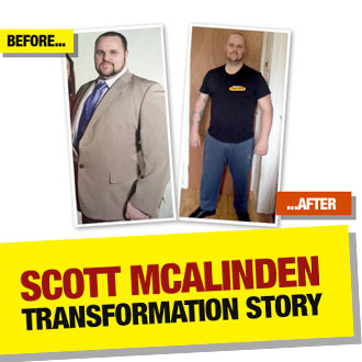 Scott McAlinden SLASHED 15 stone from his 30 stone frame on a Muscle Food diet!