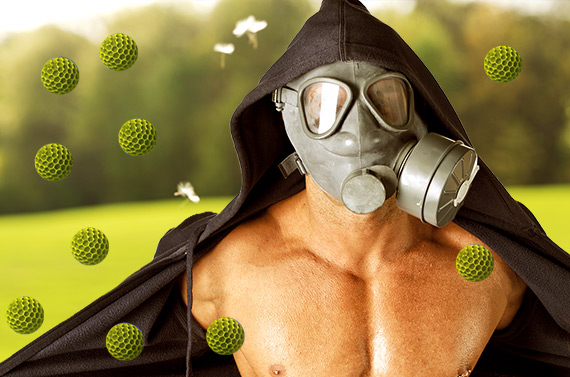 Hayfever gas mask as protection