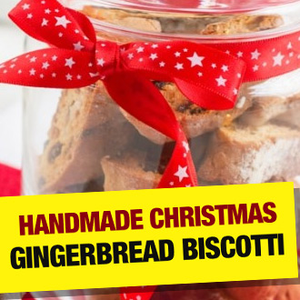 Handmade Gingerbread Biscotti available NOW! It's crunchy, it's delicious, it's unbeatable - enjoy...