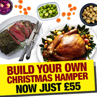 Build Your Own Christmas Hamper for just £55 with Muscle Food. Meat, trimmings, treats - the lot!