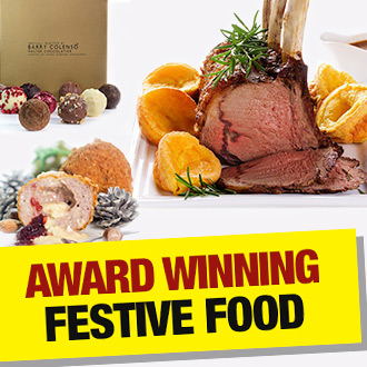 Go the whole hog this Yuletide with our AWARD WINNING festive fodder - YUM!