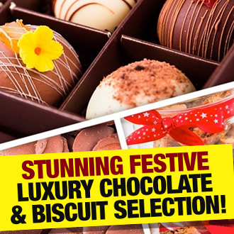 Treat yourself happy this Christmas with our stunning Festive Luxury Chocolate & Biscuit Selection!
