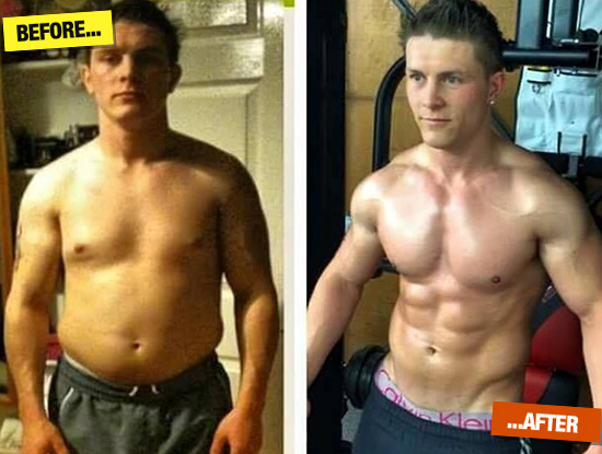 Darren Tanser - before and after Herbalife
