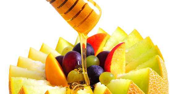 fruit and honey