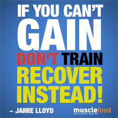 If you can't gain, dont train. recover instead