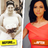 31 y/o Donna Docherty lost 8 STONE and dropped from a size 22 to 8 in just 12 months…