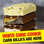 white choc cookie carb killa's