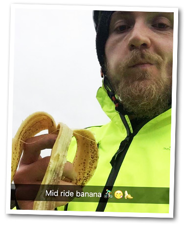 Sam on a bikeride