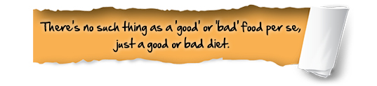 No such thing as good or bad food