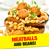 Meatballs and beans