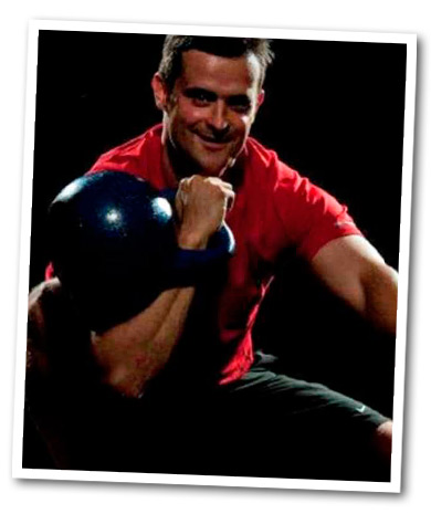 Jamie with a kettlebell