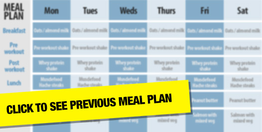 Joel Corry previous meal plan