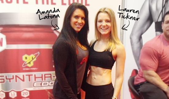 Lauren with Amanda Latona