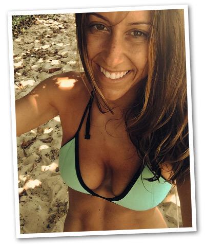 Becki at the Beach