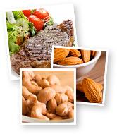 Steak, Cashews and Almonds
