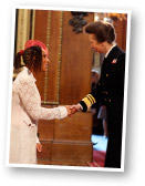 Non Evans receiving her MBE