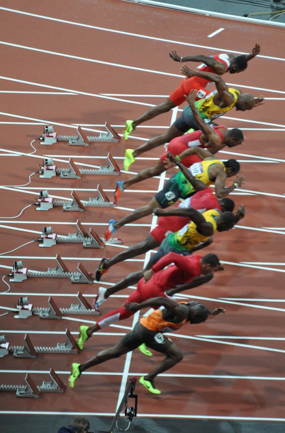 London Olympics 2012 Men 100m start