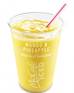 McDonalds Mango and Pineapple Iced Fruit Smoothie
