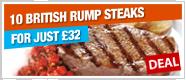 10 British Rump Steaks