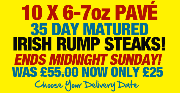 35 Day Matured 6-7oz Pave Steaks Offer