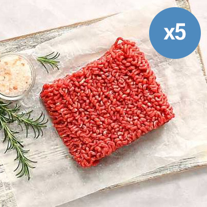 Extra Lean Free Range Steak Mince - 5 x 200g